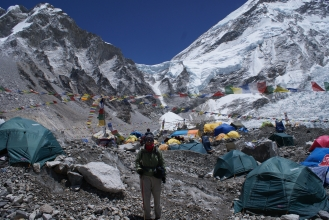 Amanda at Everest Base Camp