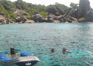 Crystal clear waters of the Similans