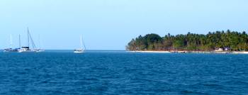 Approaching the anchorage behind Ketawi Island
