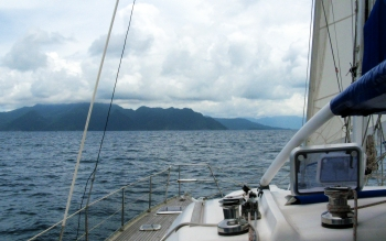 Approaching Langkawi, Malaysia, at last!