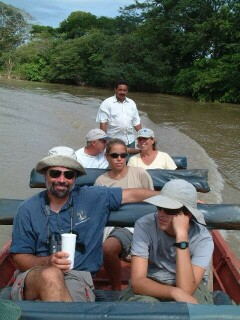Wildlife viewing on the Apure river