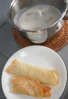 Amanda's creative & delicious banana-coconut crepes