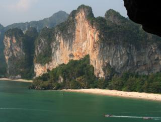 Amazing view from high on the cliffs near Krabi