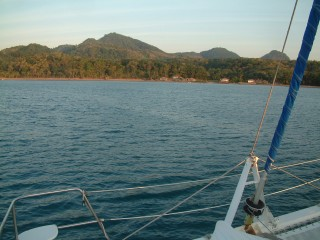 Large calm bay on N Bowean Island, Java Sea