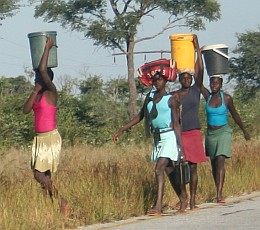 Carrying water home from the well