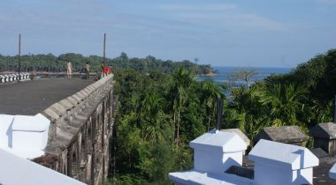 On the roof of Cellular Jail, Port Blair