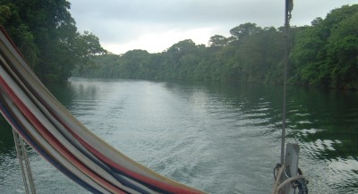 Motoring up the spectacular Chagres River