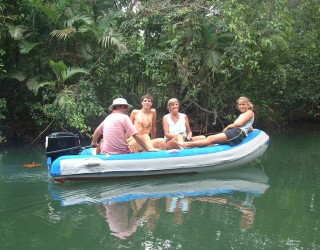 Checking out some of the side rivers off the Chagres