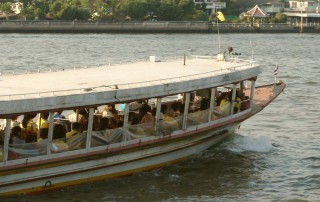 Chao Praya River ferry underway
