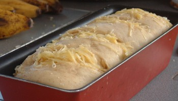Amanda's cheesebread ready for the oven