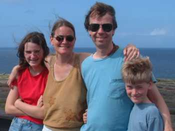 Meredith, Mary, Bill, & Brendan at a Curacao overlook