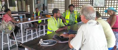 Customs, Quarantine & Health officials met us Rabaul YC
