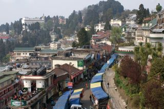 View towards Chowrasta from Dekeling Hotel, Darjeeling
