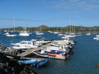 Dinghy dock and anchoraage off Dzaoudzi, Mayotte