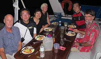 Dinner with Villa G, Victor, & his parents on Ocelot