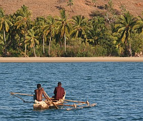 Heading home on Madagascar's coast