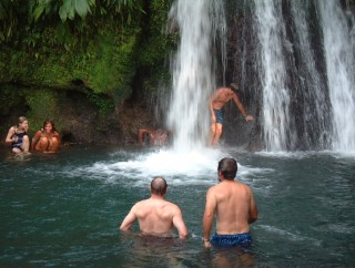 Swimming at Ecrivisse Falls