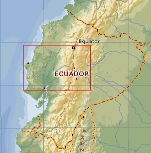 Mainland Ecualdor, on the NW side of South America