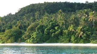 Euakafa Island is surrounded by beach and has a lovely walk to the hilltop