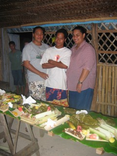 At the end of a Tongan feast