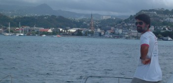 Approaching the city of Fort-de-France, Martinique