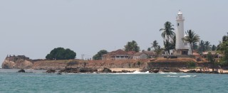 The old fort in Galle as seen from the harbor