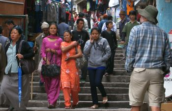 Walking is a way of life in hilly Gangtok