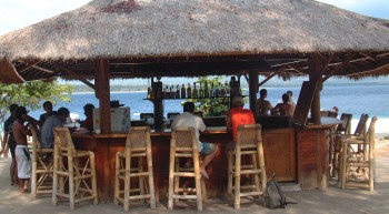 Typical Gili Air beach bar