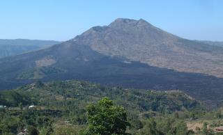 Bali's Gunung Batur, showing the 1974 lava flow