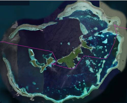 Hermit Archipelago - Safe navigation requires satellite imagery
