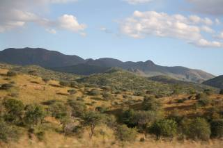 Rolling hills of central Namibia