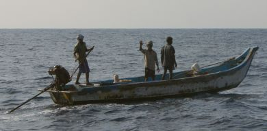 We were greeted by fishermen off the Tamil Nadu coast,
