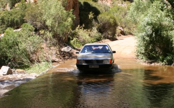 Driving a drift in the Swartberg Mountains, South Africa