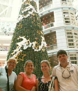 Christmastime in the Twin Towers Mall