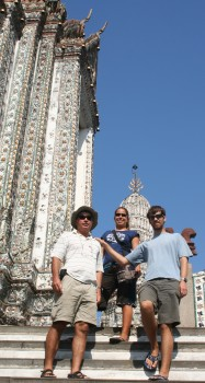 On the steps of Wat Arun, Bangkok