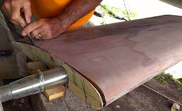 Prying off Neil's template for the new rudder shape