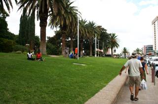 Park in downtown Windhoek, Namibia