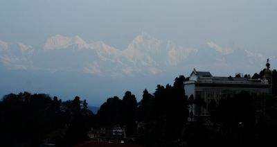 Kanchendzonga & Himalaya from Darjeeling. Early morning