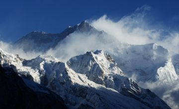 Mt. Kanchendzonga 8598m/28373' world's third highest mountain, from Sikkim, India