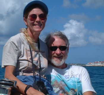 Karen Egbert & Jon Hitchings, sailing off Anguilla