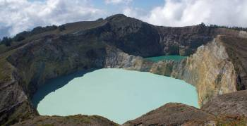 The famous Kelimutu Painted Lakes