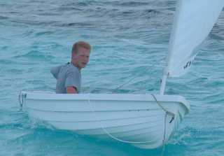 Kenny out for a sail in Nikka