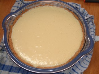 An Ocelot creation: Key Lime Cheesecake Pie