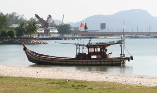 Fishing boat off Kuah ferry terminal