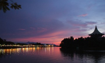 Kuching River from the promenade