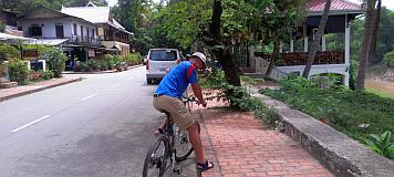We toured Luang Prabang on rented bikes