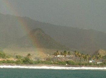 Rainbow over Little Bay, Montserrat