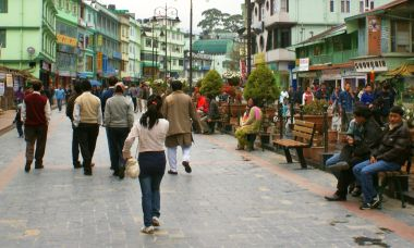 Gangtok's MG Marg walking street is always bustling