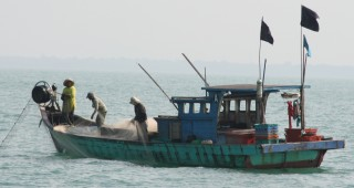 Malaysian fishing boat in Strait of Malacca