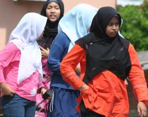 Young Malay women in Melaka